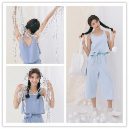 TE1585GJWL Casual denim gallus short tops