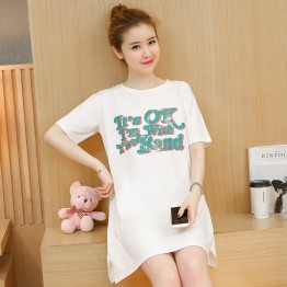 TE1768JXMM New style fashion letters printmaternity t-shirt dress