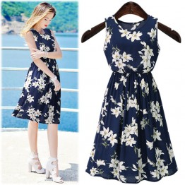 TE219WTY Summer new style plus size sleeveless dress