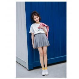 TE3112YZS Korean fashion rose decoration short sleeve t-shirt