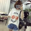 TE521XGM Student pullover cartoon print short sleeve loose t-shirt