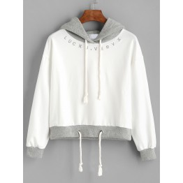 TE3091YZS Splicing embroidery casual preppy style hoodies