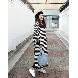 TE6554YZS Spring fashion long sleeve slit maxi dress