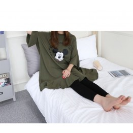 TE1562GJWL Plus size batwing sleeve flouncing print large t-shirt