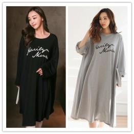 TE1565GJWL Plus size print pure color long cotton dress