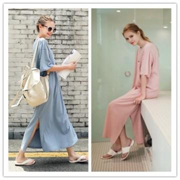 TE1570GJWL Euramerica fashion loose large size maxi dress