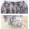 TE2151LY Print bohemia wide hem chiffon beach skirt