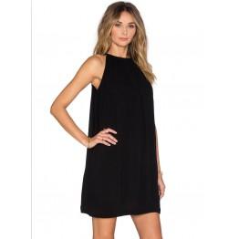 TE3019YZS Euramerican sweet style sleeveless halter lacing back sexy dress