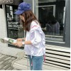 TE9357HLL Korean fashion flouncing loose round neck half sleeve t-shirt
