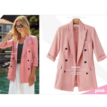 TE0829DN Europe fashion casual slim double-breasted jacket