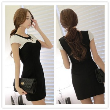 TE3932GJ New style temperament sexy hollow out tight hip dress