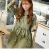 TE1414GJWL Japanese fashion sweet stripes splicing casual dress