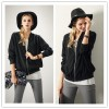 TE1362GJ Europe fashion autumn joker stand collar cardigan