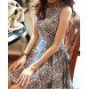 TE5905DDJP Blue and white porcelain pattern sleeveless beach dress