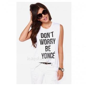 TE1810REWL New style joker letters print sleeveless vest t-shirt
