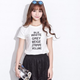 TE2109HM Letter print short sleeve cotton t-shirt