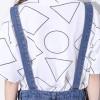 TE2114HM Geometry pattern batwing short sleeve cotton t-shirt