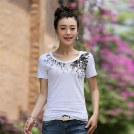TE3120WSSP Summer fashion simple print short sleeve T-shirt