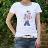 TE3122WSSP Fashion embroidery beauty slim short sleeve T-shirt