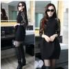 TE3201MY Autumn lace long sleeve slim waist dress