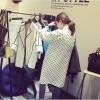 TE3207MY Autumn Korean fashion dot thicken chiffon long sleeve shirt