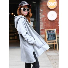 TE3352XLZ Europe fashion irregular forked tail plus size hoodie