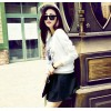 TE3927MY Autumn fashion print loose sweatshirt with skirt two pieces suit