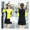 TE5249HM Color matching temperament long sleeve dress