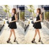 TE5262HM Lace splicing temperament fake two piece sleeveless dress