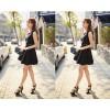 TE5262HM Lace splicing temperament fake two piece sleeveless dress
