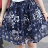 TE5277HM Summer cotton print t-shirt with organza skirt