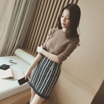 TE8194HYNL 2016 new style pure color knitting sweater