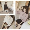TE6536YYK New style puff sleeve lacing chiffon shirt with inner vest
