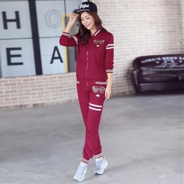 TE749YHZL 2015 fashion Casual print slim tracksuit