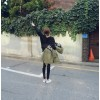 TE7878XHHB Korean fashion ulzzang zipper casual fleece coat