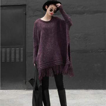 TE86229JYS Europe fashion knitting tassel maternity loose clock sweater
