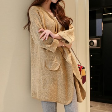 TE86230JYS Korean fashion loose knitting maternity cardigan long sweater