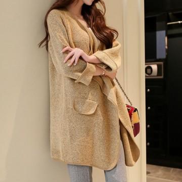 TE86230JYS Korean fashion loose knitting maternity cardigan long sweater