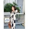 TE9756MVYC Trendy contact color geometry pattern long shirt