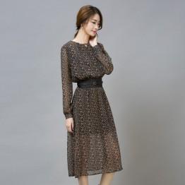 TE9548JDYJ Korean style shivering autumn fashion chiffon dress
