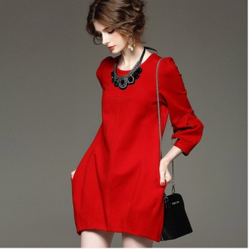 TE6013DFT Europe fashion puff sleeve ballon skirt dress