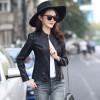 TE0291XYW New style Korean fashion stand collar PU leather jacket