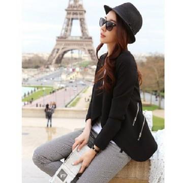 TE0839DNFS Korean fashion slim zipper ornament little suit