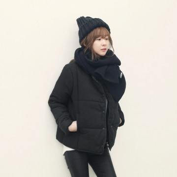 TE1013LRFS Simple design short cotton-padded coat