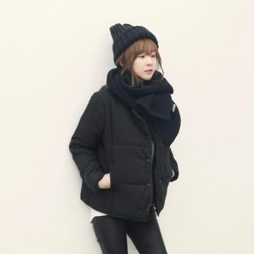TE1013LRFS Simple design short cotton-padded coat