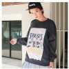 TE1130SLQL Korean style print wool sweatshirt