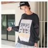 TE1130SLQL Korean style print wool sweatshirt