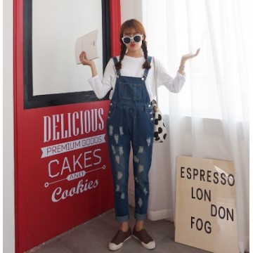 TE1161DXE Japanese style holes loose denim overall