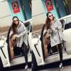 TE121XRXM New style loose irregular fleece hooded coat