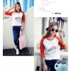 TE1517TGFS Fashion umbrella print color matching t-shirt